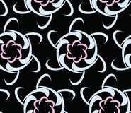 Modern seamless urban background pattern with flowers Stock Images
