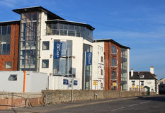 Modern seaside apartments under construction Royalty Free Stock Photography