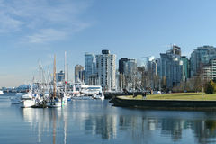 Modern Seaside City Stock Images