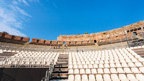 Modern seats in ancient Teatro Greco in Taormina Stock Photography
