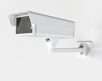 Modern Security Camera Mounted on the Building Royalty Free Stock Photography