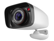 Modern security camera  on white background. 3d image Stock Images