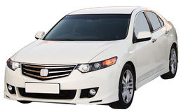 Modern sedan isolated Royalty Free Stock Photography