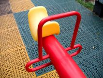 Modern Seesaw at a Playground Stock Photography