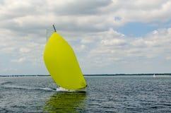 Modern segelbåt royaltyfria foton
