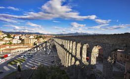 Modern Segovia and  aqueduct Royalty Free Stock Image
