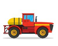 Modern Self Propelled Sprayer Agriculture Farm Vehicle Illustration. Modern Agriculture Farm Vehicle Illustration, suitable for book, print, game asset Stock Photography