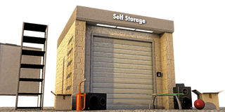 Modern self storage Stock Photo