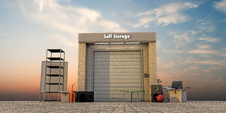Modern self storage Stock Photos