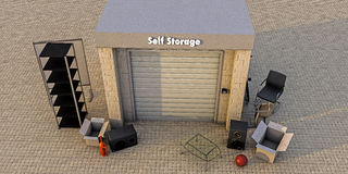Modern self storage Royalty Free Stock Photo