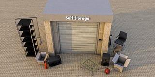 Modern self storage Royalty Free Stock Photo