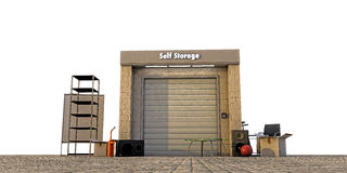 Modern self storage Royalty Free Stock Photography