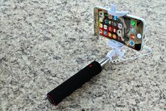 Modern selfies Stock Image