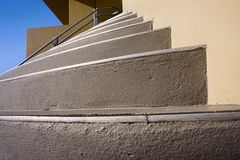 Modern semicircular stairs Stock Images