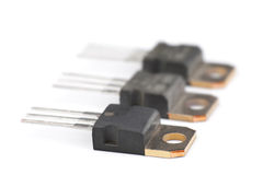 Modern semiconductor transistors Stock Images
