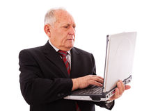 Modern senior businessman Stock Photo
