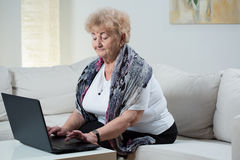 Modern senior woman Stock Photography