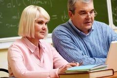 Modern seniors Stock Image