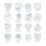 Modern SEO Thin Line Icons Royalty Free Stock Photos