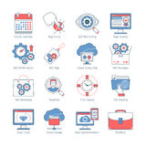 Modern SEO Thin Line Icons2 Stock Photography