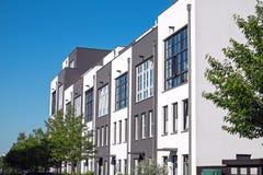 Modern serial housing in Berlin Stock Photo
