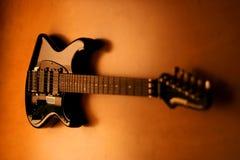 modern serie för gitarr Arkivfoto