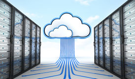 Modern server and cloud Royalty Free Stock Images