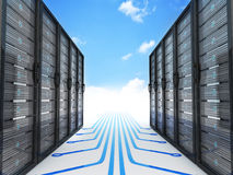 Modern server and cloud Stock Photography