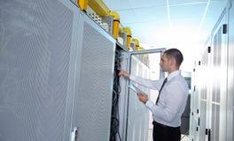 Modern server room Stock Photo
