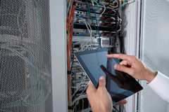 Modern server room Royalty Free Stock Photos