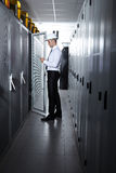 Modern server room Stock Photos