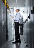 Modern server room Royalty Free Stock Image