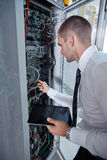 Modern  server room Stock Photo
