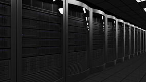 Modern server room dolly seamless loop 4K animation. Cloud technologies, ISP, corporate IT, ecommerce business concepts stock video footage