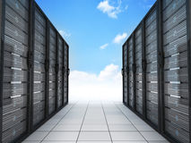 Modern server and sky Royalty Free Stock Photos
