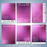Modern set of brochure , flyer, booklet, cover or annual report in A4 size for your design . Vector Illustration Stock Photo