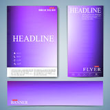 Modern set of brochure , flyer, booklet, cover or annual report in A4 size for your design . Vector Illustration Stock Photos