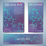 Modern set of brochures, magazine, flyer, booklet, cover or report in A4 size for your design . Vector Illustration Royalty Free Stock Images