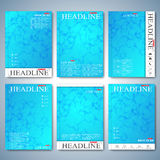 Modern set of brochures, magazine, flyer, booklet, cover or report in A4 size for your design . Vector Illustration Stock Images
