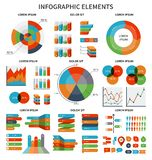 Modern set of business infographic elements Stock Photography
