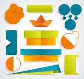 Modern set of business infographic elements Royalty Free Stock Image