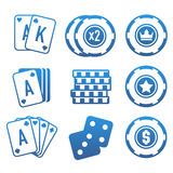 Modern set of colorful gambling and casino icons for website or mobile application. Bright and stylish elements for you des. Ign royalty free illustration