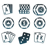 Modern  set of colorful gambling and casino icons for website or mobile application. Bright and stylish elements for you des. Ign Stock Photography