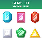 Modern  set of colorful gems for website or mobile application. Bright and stylish elements for you design. Modern  set of colorful gems for website or mobile Royalty Free Stock Image
