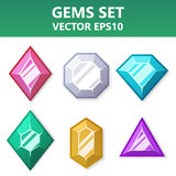 Modern set of colorful gems for website or mobile application. Bright and stylish elements for you design. Modern set of colorful gems for website or mobile vector illustration
