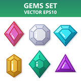 Modern set of colorful gems for website or mobile application. Bright and stylish elements for you design. Modern set of colorful gems for website or mobile stock illustration