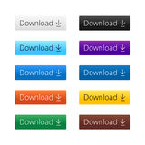 Modern set download buttons Royalty Free Stock Photo