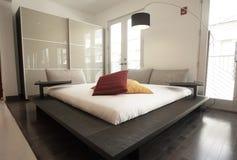 modern set för sovrum Fotografering för Bildbyråer