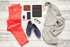 Modern set of outfit. For men royalty free stock photo
