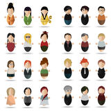 Modern set of people. Vector illustration of a set of twenty- four people , twelve women and twelve men Royalty Free Stock Image